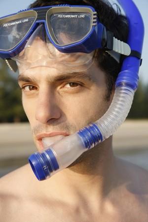 Man with scuba mask Stock Photo - 7077036