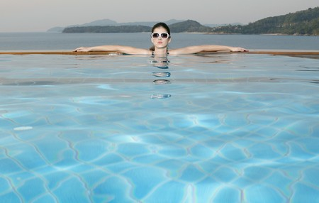 Woman in a swimming pool Stock Photo - 7131659