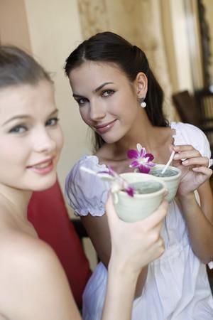 Women enjoying a cup of tea Stock Photo - 7131613