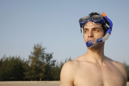 Man with scuba mask Stock Photo - 7355990