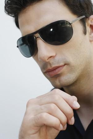 southeastern european descent: Man with sunglasses Stock Photo