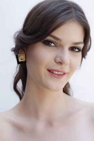 southeastern european descent: Woman smiling