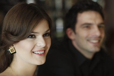 southeastern european descent: Man and woman smiling