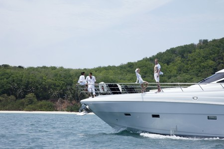 Two couples on yacht Stock Photo - 7362473