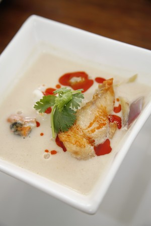 Tom Kha Talay - Seafood with coconut milk soup