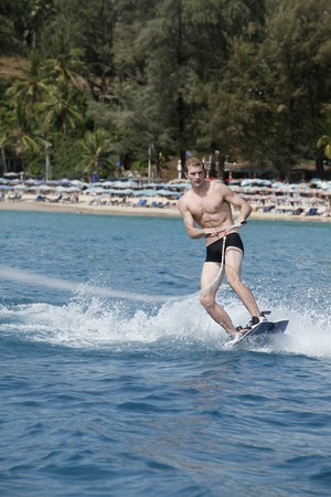 Man waterskiing Stock Photo - 7362845