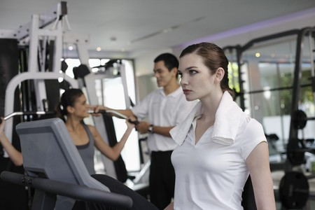 Women exercising in the gymnasium Stock Photo - 7446149