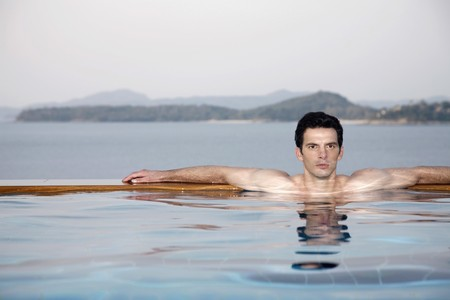 Man in a swimming pool Stock Photo - 7445939