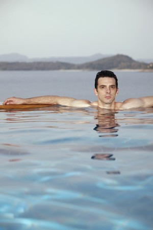 Man in a swimming pool Stock Photo - 7446056