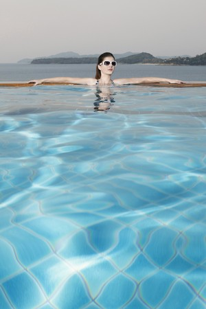 Woman in a swimming pool Stock Photo - 7446182