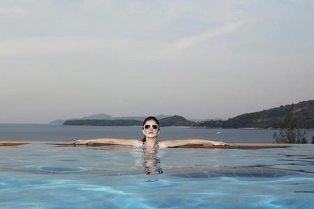 Woman in a swimming pool Stock Photo - 7446253