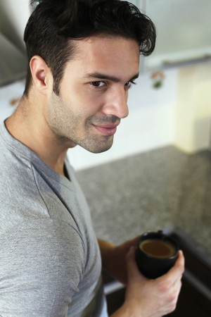 Man enjoying a cup of coffee Stock Photo - 7446928