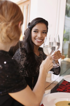Women toasting photo