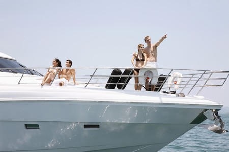 Couples relaxing on yacht Stock Photo - 7445924