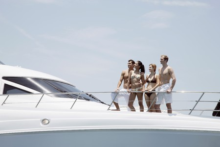 Couples relaxing on yacht Stock Photo - 7445782