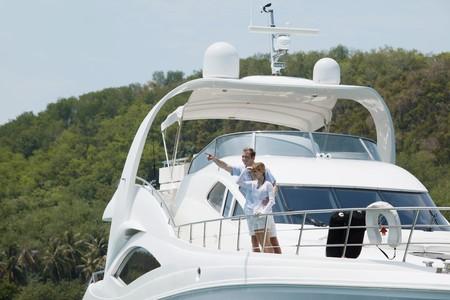 Couple on yacht photo