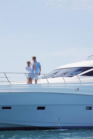 Couple on yacht Stock Photo - 7478086