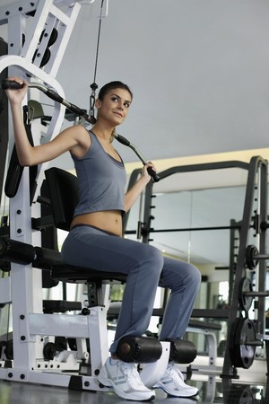 Woman exercising in the gymnasium photo