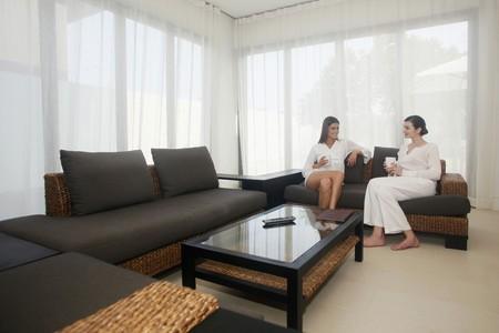 Two women having a chat photo