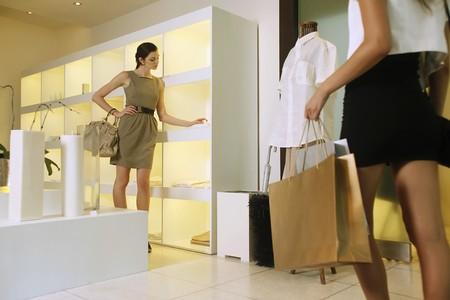 Women at shopping mall photo