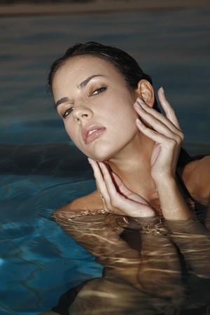 Woman in pool Stock Photo - 7595581