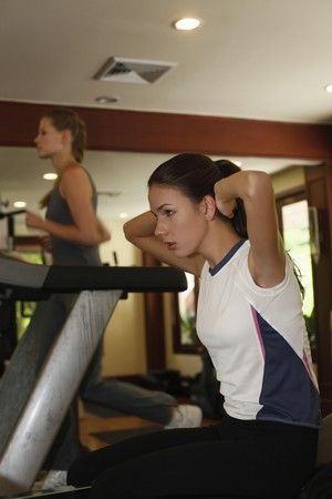Women working out at gym Stock Photo - 7594887