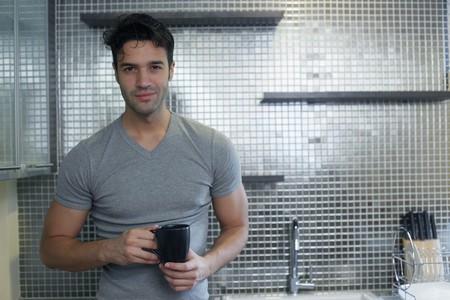 Man enjoying a cup of coffee Stock Photo - 7595641
