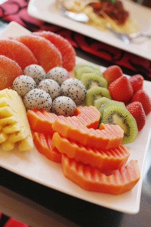 A variation of fruits in a plate Stock Photo - 7595065