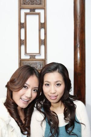 Two women smiling photo