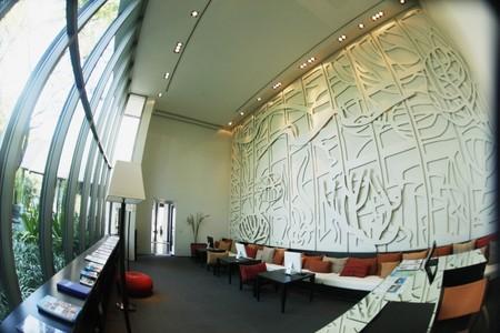 cafe internet: Cibercaf� en un resort  Foto de archivo