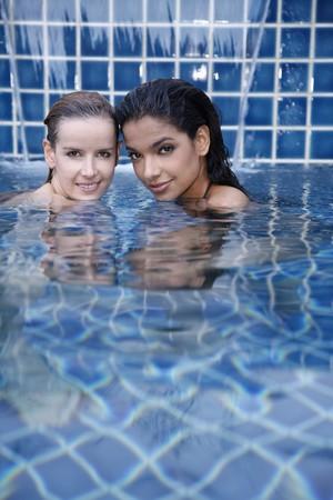 Women in swimming pool photo