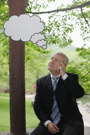 Businessman thinking for solution photo