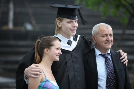 Graduate and his family photo