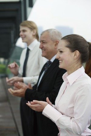 Business people applauding Stock Photo - 7668379