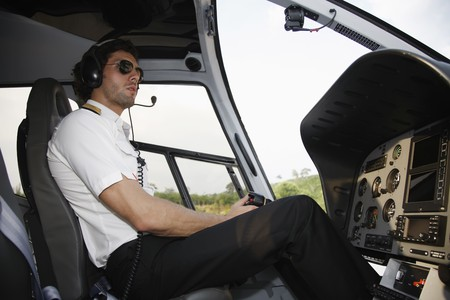 turkish ethnicity: Pilot in helicopter