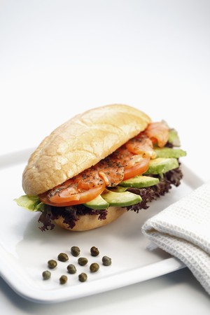 Smoked Salmon Sandwich Stock Photo - 7685287
