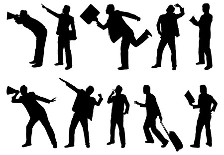 young professional: Siluetas de empresario