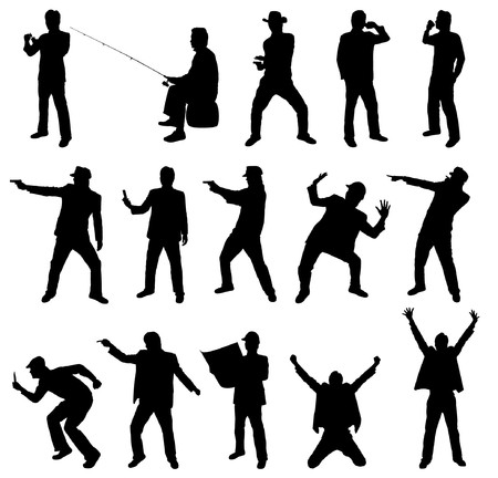 Collection of occupation silhouettes Vector