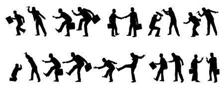 threat: Collection of business people silhouettes
