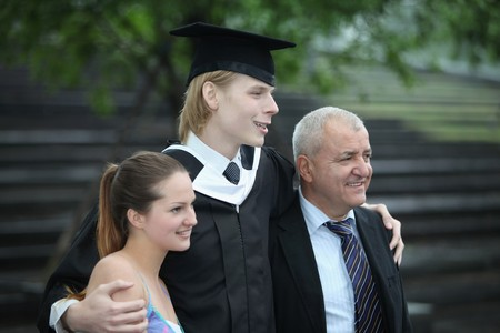 Graduate and his family Stock Photo - 7834902