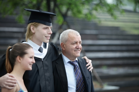 Graduate and his family