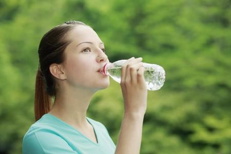 Woman drinking water Stock Photo - 7835025