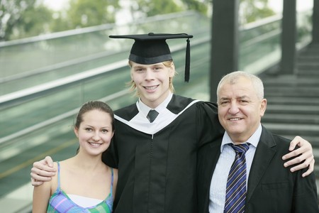 Graduate and his family Stock Photo - 7834423