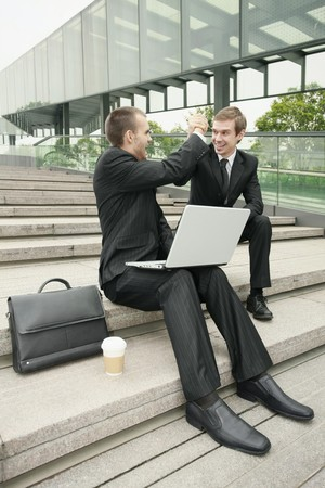 Businessman with arms clasped Stock Photo - 7835807