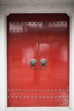 Traditional chinese door Stock Photo - 7835675