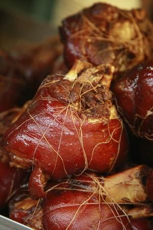 knuckles: Pork knuckles Stock Photo