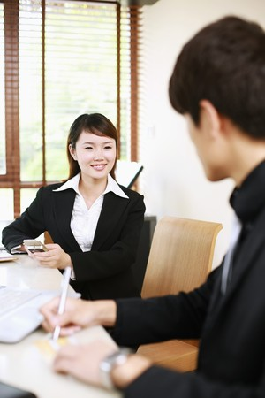 Business people chatting Stock Photo - 7839296