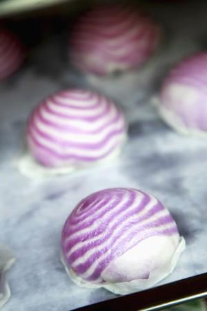 Steamed sweet bun photo