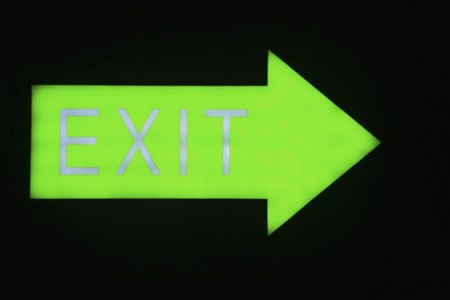 exit sign: Close-up of Exit sign