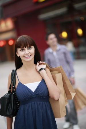 Woman with shopping bags Stock Photo - 8148894